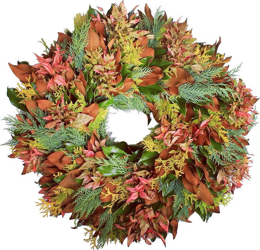 magnolia harvest wreath