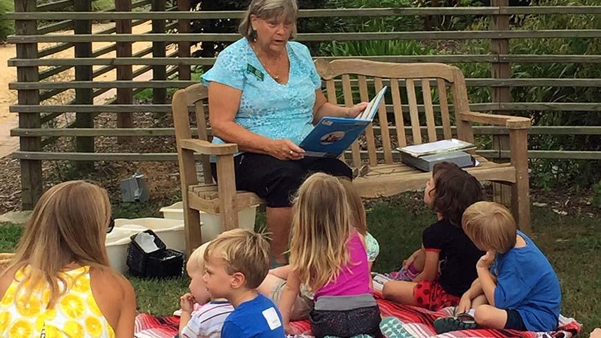 children enjoying a story