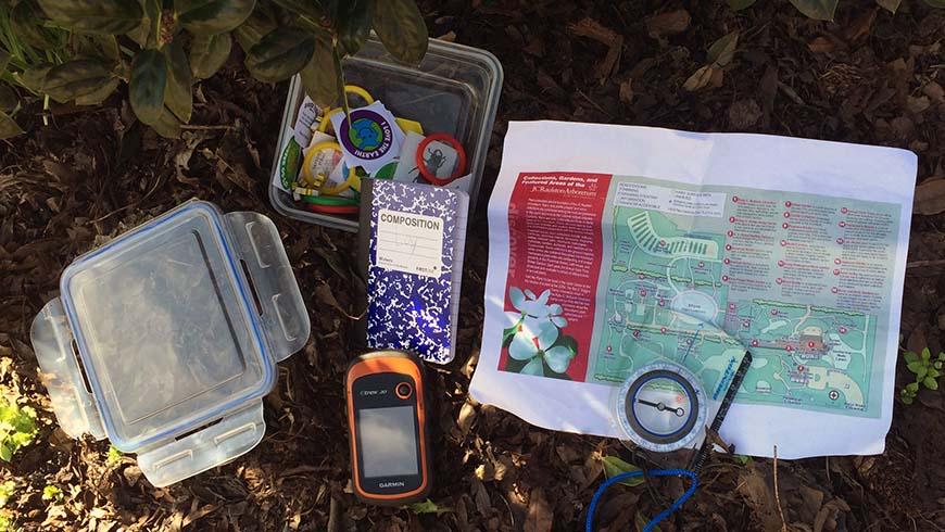 compass, map, GPS, geocache