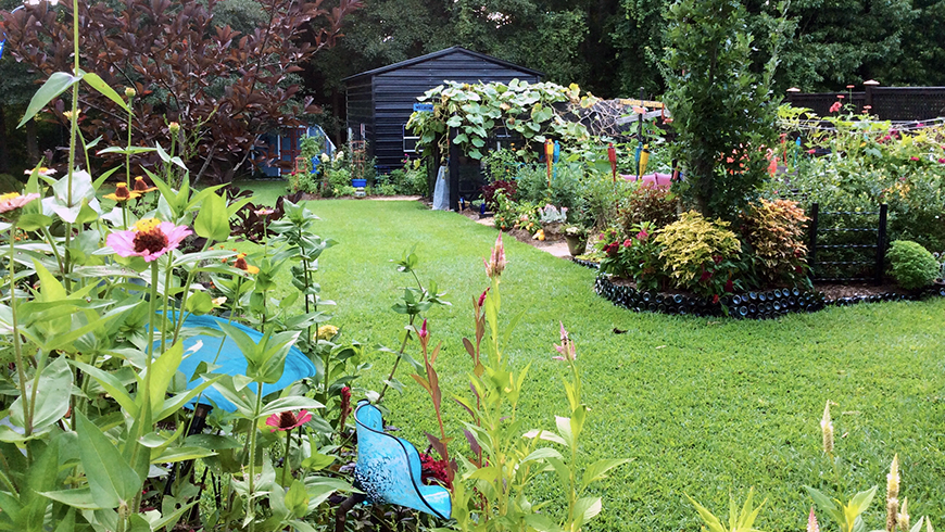 Brie Arthur's garden