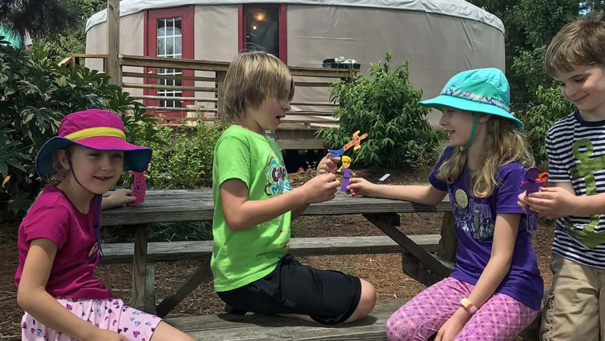 pictures of children at camp