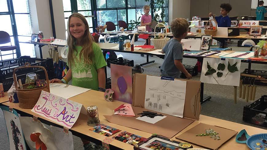 camper at art show