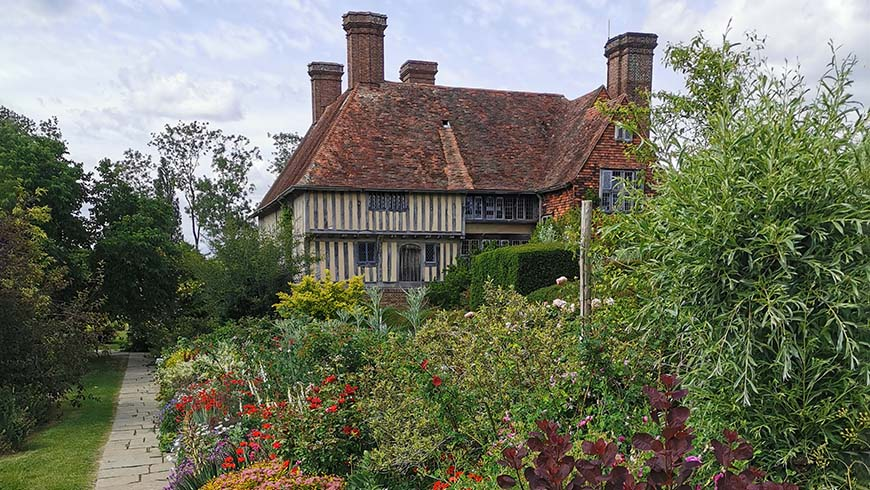 Long Border in flower at Great Dixter