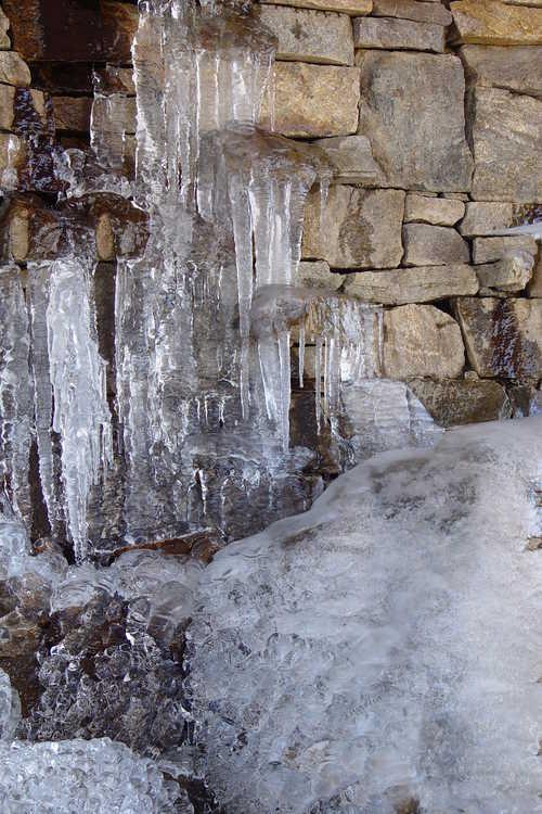 Ice in the Manooche Cascade