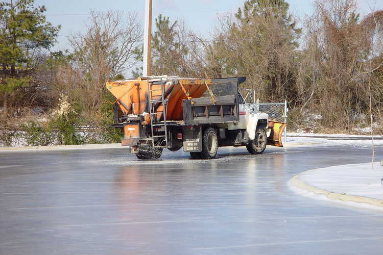 Slippery surfaces forced us to stay closed through Wednesday when the salt truck arrived