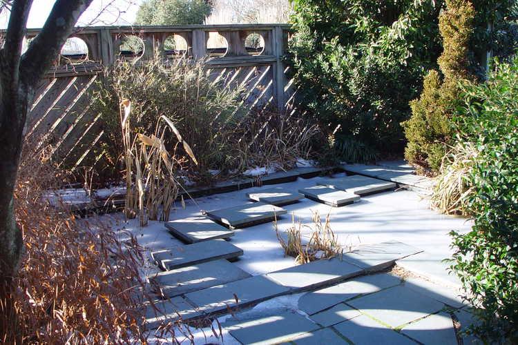 Frozen Stepping-stone Water Garden
