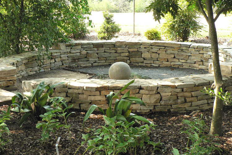 Council Circle in the Contemplation Garden