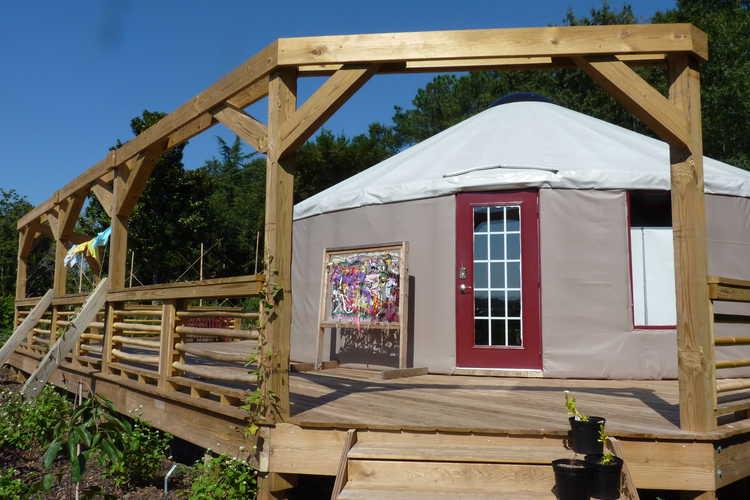 JCRA Yurt - Youth Classroom in the Garden